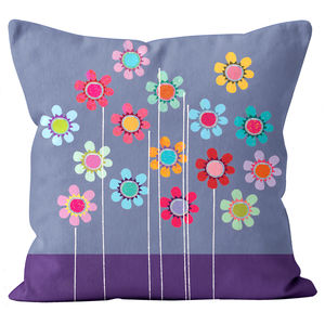 Flowery Pattern Cushion