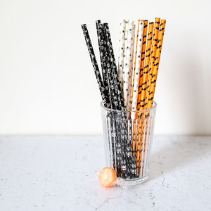 Spooky Halloween Paper Straws - party decorations