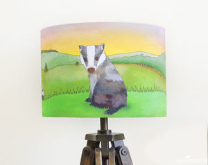 Badger Lampshade - living room