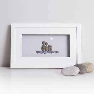 'Our Perfectly Imperfect Little Family' Pebble Artwork