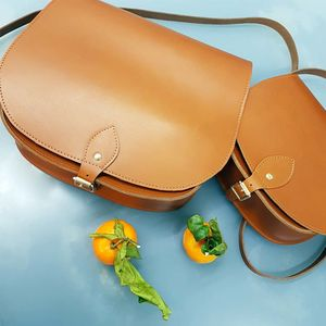 Large Leather Saddle Bag