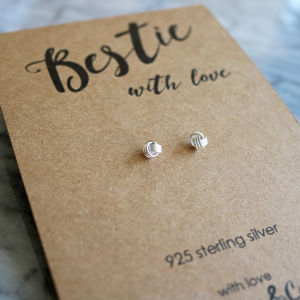 Bestie Silver Knot Earrings