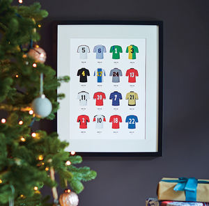 Classic Kits Football Team Print - gifts for him