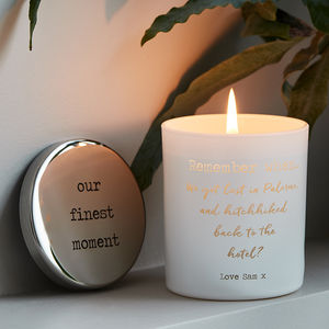 Personalised Remember When Scented Candle