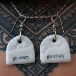 'Go Crazy' Porcelain Charm Earrings