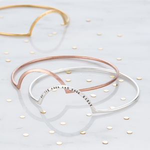 Personalised Eclipse Bangle - bracelets & bangles