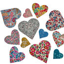 Liberty Print Applique Iron On Hearts
