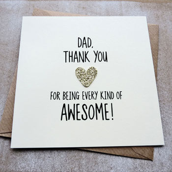 Every Kind Of Awesome Birthday Card For Dad