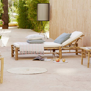 Bamboo Sun Lounger - garden furniture