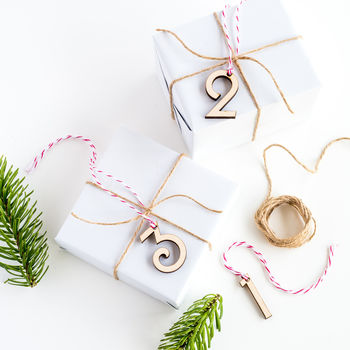 Number Gift Tag