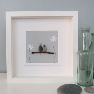 Personalised Friendship Pebble People Picture Artwork