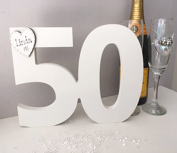 50th Birthday Freestanding Number Guest Book