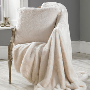 Luxurious Polar Bear Faux Fur Throw - blankets & throws