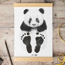 Personalised Baby Panda Footprint Kit