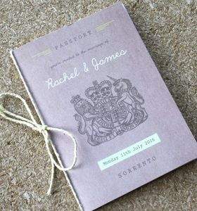 Passport Wedding Invitation Travel Booklet - invitations