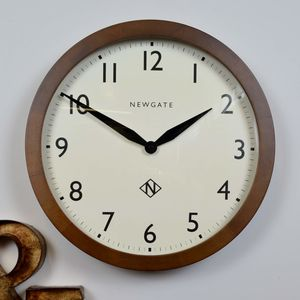 Newgate Wooden Round Wall Clock - clocks