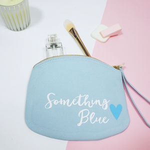 'Something Blue' Bride Make Up Bag - something blue