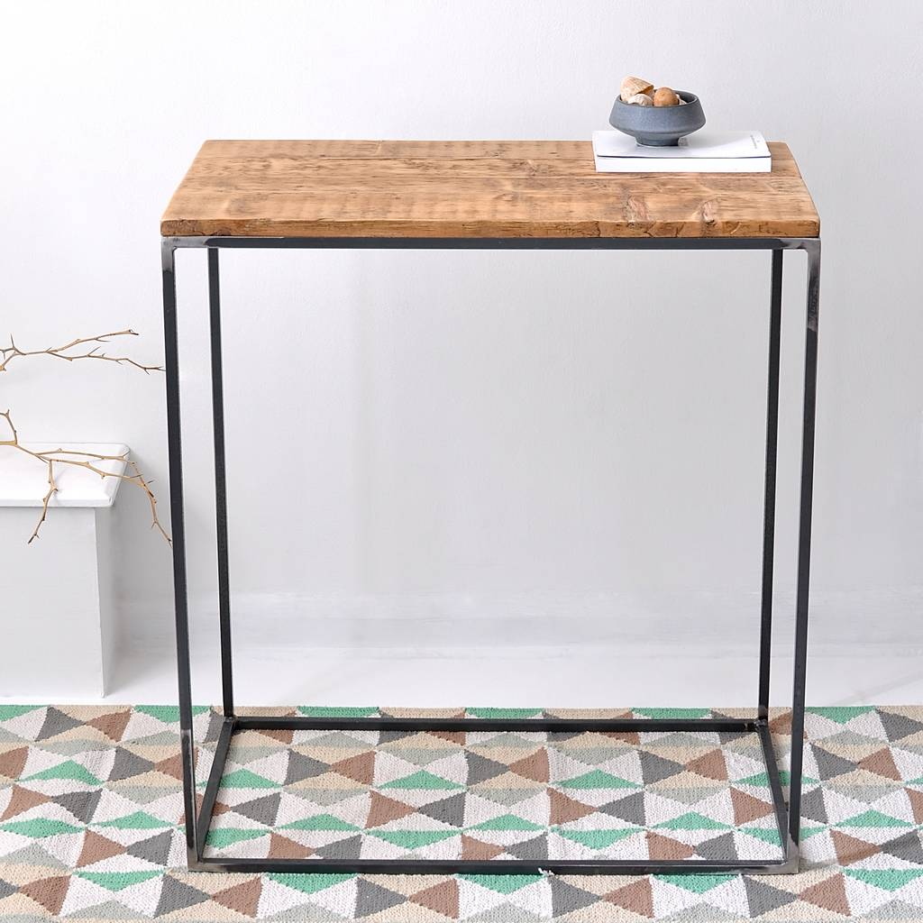 Oxford Wood And Steel Console Table by MÖa Design
