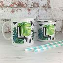 Personalised Initial Botanical Mug