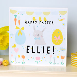 Personalised Children's Easter Card 'Bunny'