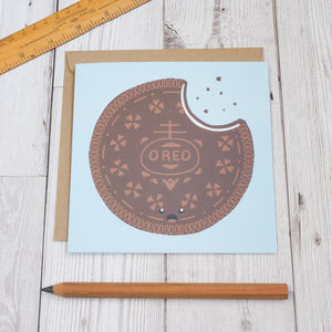 Oreo Biscuit Greeting Card