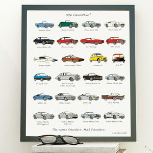 James Bond Carvolution® Personalised Artwork Print - personalised