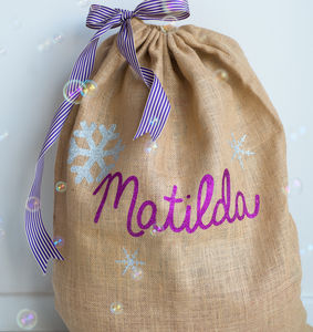 Personalised Glittery Christmas Sack Kit - stockings & sacks