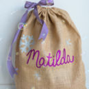 Personalised Glittery Christmas Sack Kit