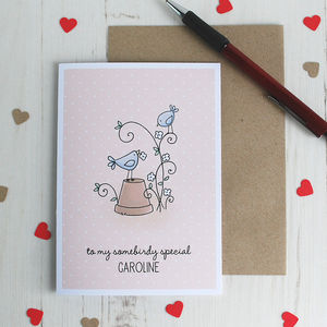 Some Birdie Special, Personalised Valentine's Card - anniversary cards