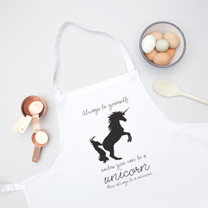 Unicorn Quote Kids Apron