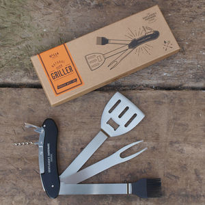 Engraved Bbq Multi Tool Set - for him