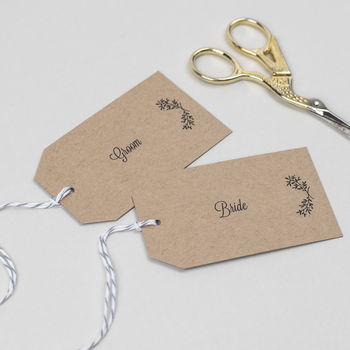 Perfect Day Wedding Place Card Tags