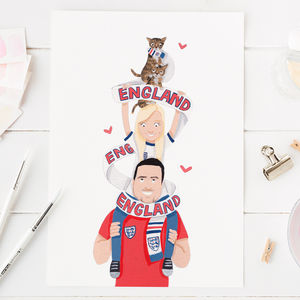 Personalised England Football Fan Portrait