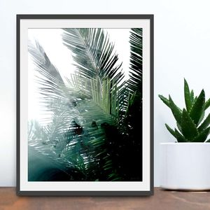 Feeling Tropical Painted Palm Leaves Print