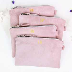 Bridesmaids Leather Clutch Bag Set Of Four - be my bridesmaid?