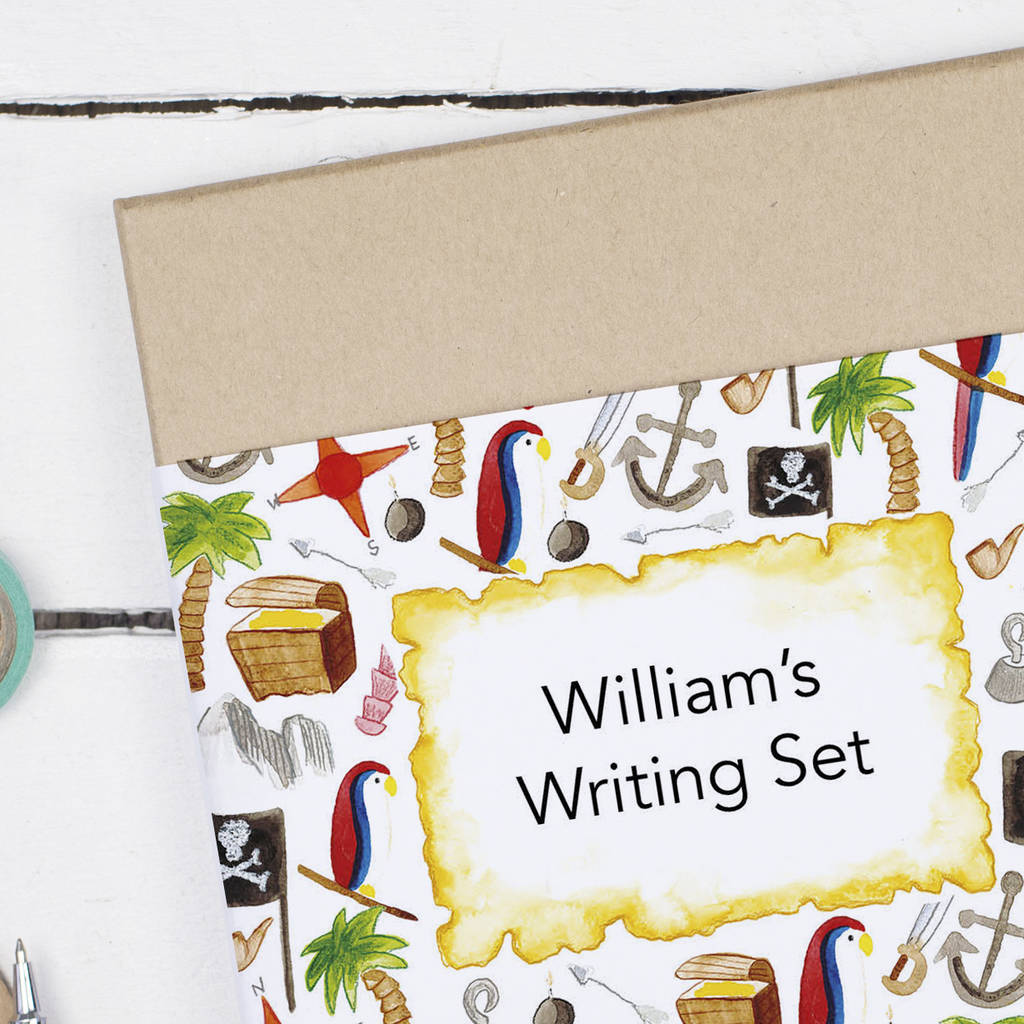Personalised Pirate Island Children 39 S Writing Set By