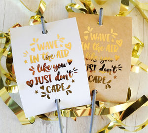 Set Of 12 Fun Style Wedding Sparkler Covers - sparklers