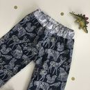 Boys Monochrome And Gold Woodland Animal Trousers