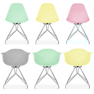 Dining Chair Pastel Pair Single Or Set Of Two - furniture