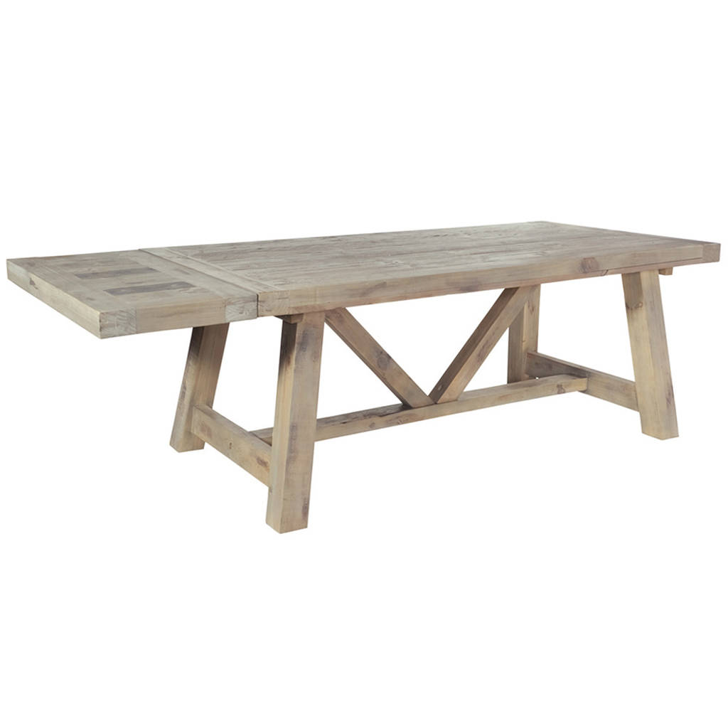Drift Farmhouse Extendable Dining Table By The Orchard Furniture Notonthehighstreet Com