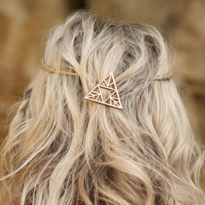 Triangle Hair Clip Three Colours Available - head pieces