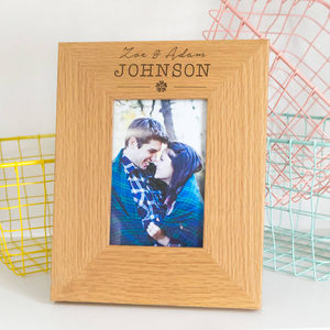 Personalised Images Wedding Photo Frame - picture frames