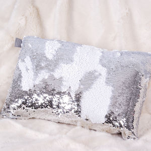 Aviva Stanoff Designer Two Tone Sequin Cushion - winter sale