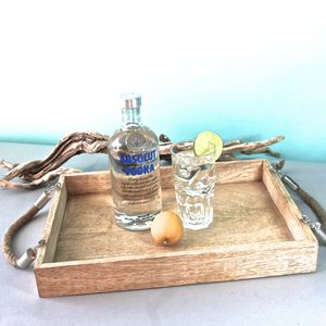 Tray With Rope Handle - trays