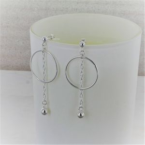 Circle And Chain Statement Earrings