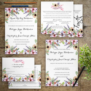 Meadow Flowers Wedding Invitations