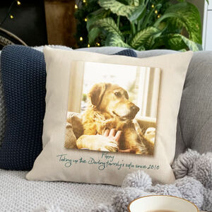 Personalised Dog Photo Cushion