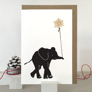 Elephant Christmas Card And Pack Of Christmas Cards - christmas sale