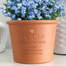 Personalised Forget Me Not Plant Pot