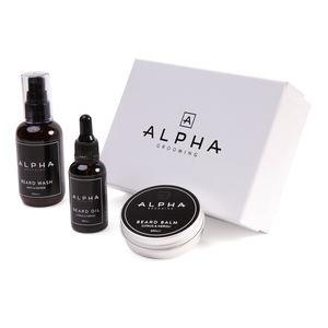 Beard Oil, Beard Balm And Beard Wash Gift Box - men's grooming gifts